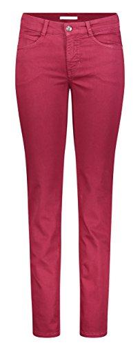 MAC JEANS Damen Straight Jeans ANGELA, Rot (Rubin Red 458r), W36/L32