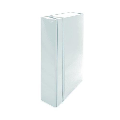 euro-cart IRIS Cartella Portaprogetti con Elastico Piatto, Dorso 8 cm, Bianco