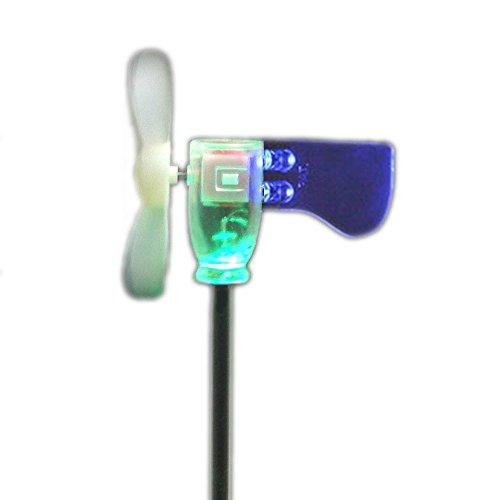 DOREKIN Soffiare LED Mini turbina Piccolo Mulino a Vento Luce Giardino