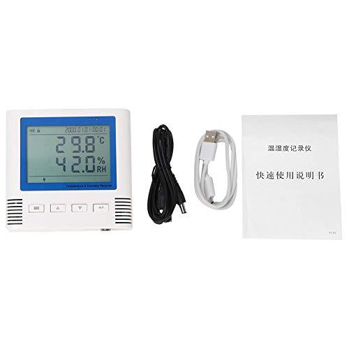 Registrador de temperatura y humedad Pantalla USB Pantalla LCD de amplio ángulo de visión -3