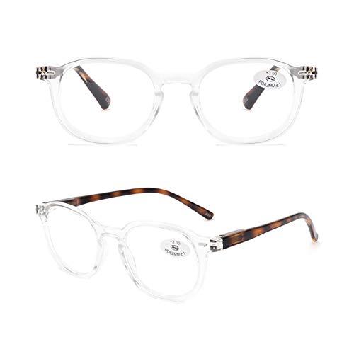 Completo-imagen Gafas De Lectura,retro Hd Policarbonato Gafas Ultraligero Moda Para Los Hombres Mujer-b +1.0