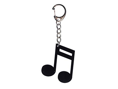 Miniblings Noten Schlüsselanhänger Pianist Klavier Musik schw - Handmade Modeschmuck I I Anhänger Schlüsselring Schlüsselband Keyring