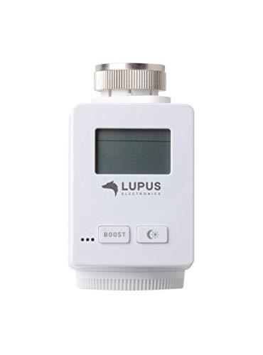 Lupus-Electronics 12130 Lupus Heizkörperthermostat V2 für die XT Alarmanlagen (Funk Heizungssteuerung, Smarthome Thermostat)
