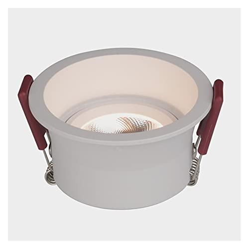 Focos Empotrables LED Para Techo Focos Empotrables LED COB Antideslumbrantes Regulables En El Techo 7W / 9W / 12W / 15W Focos De Techo LED AC85 ~ 265V ( Body Color : Blanc , Emitting Color : 6000K )