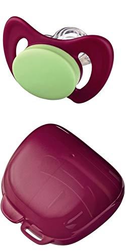 NIP Set Miss Denti mit Schnullerbox, Größe 2, 5-13 Monate, rosa