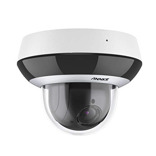 ANNKE CZ400 PoE IP Audio Security Camera 4MP 4X Optical Zoom AI Human PTZ CCTV Dome Cam w/ Mic, Color Night Vision, H.265+, Anti-Fog, Weatherproof, ONVIF & RTSP, Pan & Tilt, 7 Algorithms, Auto Focus