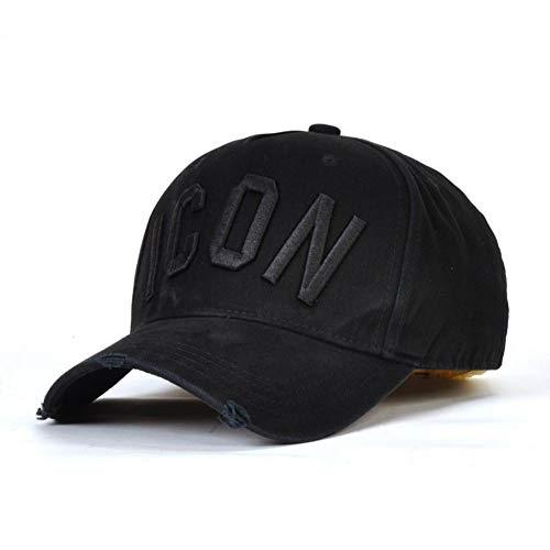 DZPHUI Kappe Herren Baumwolle Hysteresen Baseballmützen Dsq Letters Cap Männer Frauen Icon Logo Hut Black Cap Wilder Freizeithut Dad Hats
