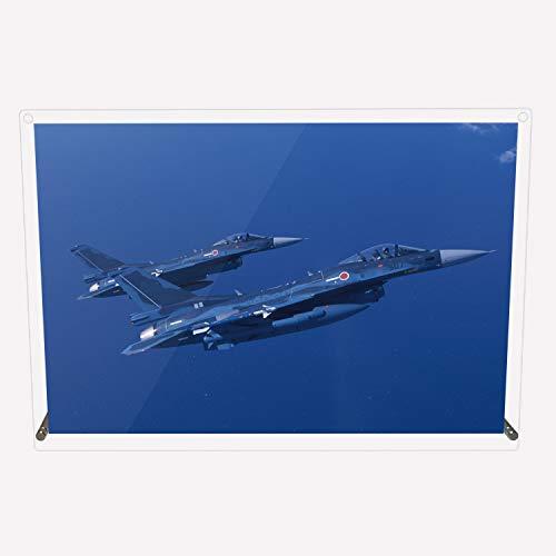 CuVery アクリル プレート 写真 航空自衛隊 戦闘機 F-2A 対艦装備 デザイン スタンド 壁掛け 両用 約A3サイズ