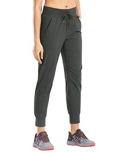 CRZ YOGA Mujer Pantalones de Chándal Cintura Elástica Cordón Jogger Pants Pantalones Casuales Correr con Bolsillos