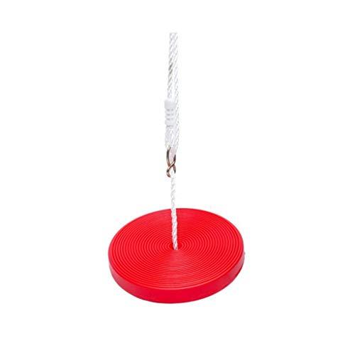 Hong Yi Fei-Shop Relaxdays Columpio Disco de Giro Redondo de Seguridad Creativa con el Juego de Ejercicios de Nylon Ajustable for niños (Rojo) Hamaca Doble