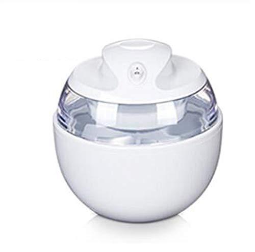 MKIU Haushalt Eiscreme-Hersteller, Bewegliche Eismaschinen Eismaschine, Qualitäts-Frucht-Dessert Milkshake Maschine Einfache Bedienung,Weiß