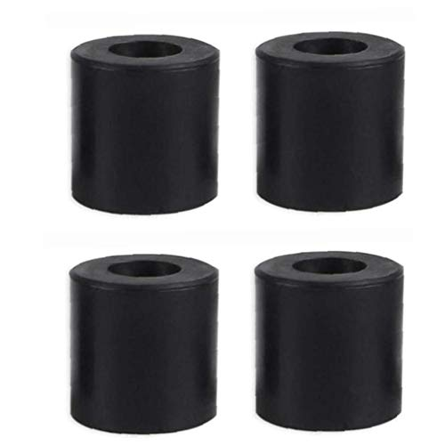 3D Printer Leveling Parts Heatbed Silicone Leveling Column Heat Bed Buffer, 4 Pcs Black Tool Supplies