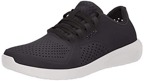 Crocs Women's LiteRide Pacer Sneaker, Black, 7 M US