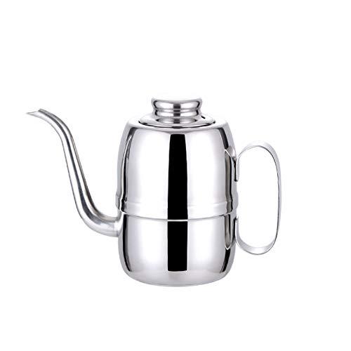 MaikcQ Lata de aceite de acero inoxidable, filtro de aceite de cocina para el hogar, se puede utilizar como salsa de soja, botella de condimento, no se oxida fácilmente