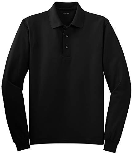 Joe's USA Mens Long Sleeve Polo Shirts in 9...