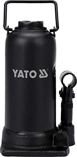 Yato Profi hydraulischer Stempelwagenheber 12 t / 12000 kg, Hubhöhe: 230 – 505 mm, stabile Ausführung, Flaschenheber Wagenheber Hydraulikheber