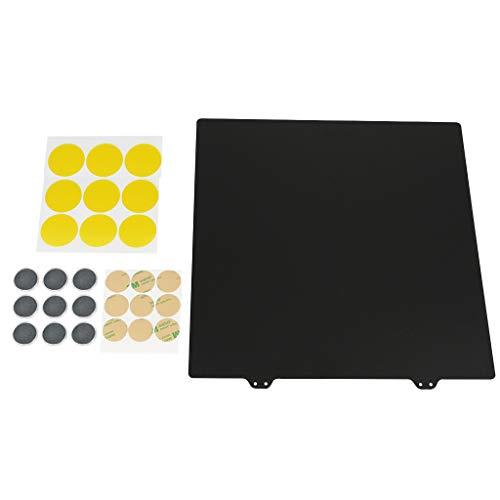 Shiwaki Placa de Acero en Polvo de Pei Texturizada de Doble Capa con Imanes Redondos para Impresora 3D