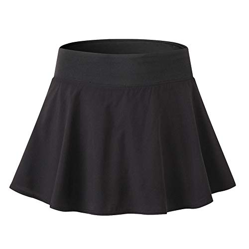 Gyratedream Röcke Damen Sommer Basic Solide Vielseitige Dehnbar Minirock Tennis Badminton Golf Rock Innen Shorts