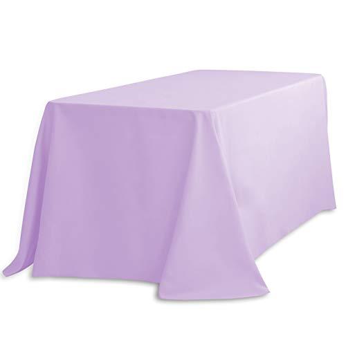 LTC LINENS Rectangular Tablecloth, 90 x 132, Lavender