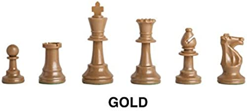 minorista de fitness Triple - Weighted Weighted Weighted Regulation Colorojo Plastic Chess Pieces - oro - by US Chess Federation by  The House of Staunton, Inc.   diseño único