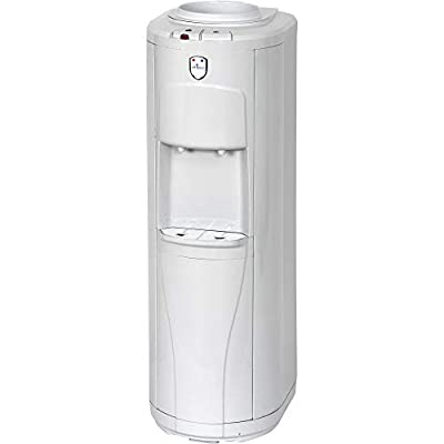 Vitapur Top Load Floor Standing Hot & Cold Water Dispenser with Piano Push Buttons & 24/7 Heating System, White