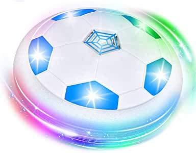 SOKY Fußball Spielzeug Junge 4-12 Jahre, Indoor Schweben Sie Fußball Fussball Geschenk Spielzeug für Jungen Mädchen 4-12 Jahre Neu Geschenke für Kinder 4-12 Spiele ab 4-12 Jahre Jungen Airhockey