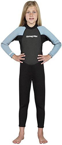 Hyperflex Acceso de los niños (con Cremallera Trasera, 3/2Fullsuit, Hombre, Azul Claro