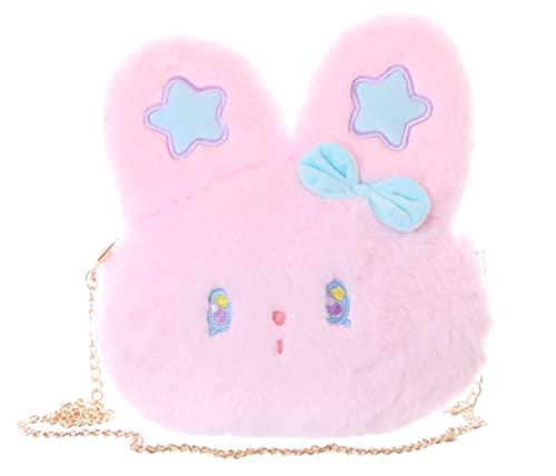 Kawaii-Story LB-7055 - Peluche de conejo de orejas largas para mujer, color rosa