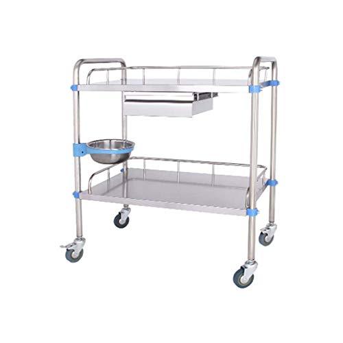 PIGE-Multifunktionswagen - Medizinischer Wagen, mehrschichtiger mobiler Pflegewagen, mobiler Schönheitswagen, super tragend, Riemenscheibe, breiter Tisch.