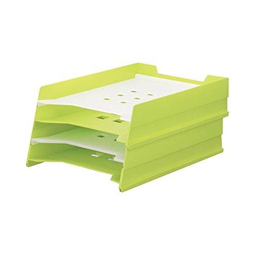リヒトラブ マルチレタートレー A4タテ 黄緑 A-7300-6 1個 ×4セット