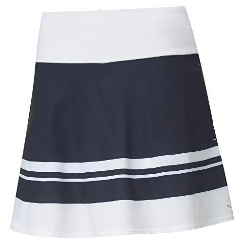 PUMA Women's Pwrshape Stripe Skirt 16' Golf Shorts, Navy Blazer, M