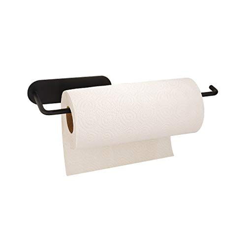Adhesive Paper Towel Holder SUS304 Stainless Steel Kitchen Tissue Towel Holder Wall Mounted Paper Towel Holder Under Kitchen Cabinet for Shower Bathroom