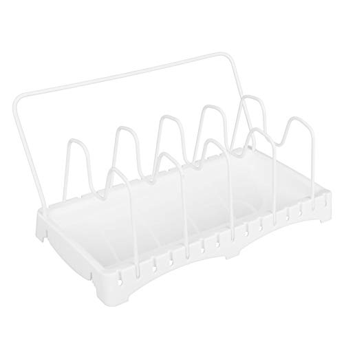 KUIDAMOS Pot Lid Stand Easy to Clean Pot Lid Organizer Stainless Steel Rustproof,for Pot Lid Baking Tray Kitchen Accessory Pot Lid Rack