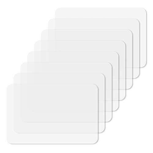 Thursday April 8 Stück Kunststoff Tischsets, Tischunterlagen Tischmatte Crystal Transparent Hitzebeständige Essmatten als Tischset Tischschutzmatte Oder Schreibunterlage(43 x 28 cm)