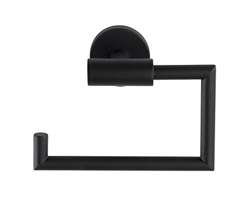 Wenko Toilettenpapierhalter Bosio ohne Deckel WC-Rollenhalter, Schwarz, 15 x 10,5 x 6,5 cm