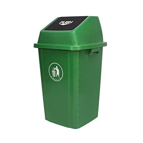 C-J-Xin Fabrik Mülleimer, 60 Liter / 100 Liter Mülleimer Mit Deckel Kunststoff Mehrere Farben Im Freien Mülleimer Schule The Mall Hotel Trash Box Hohe Kapazität (Color : Green, Size : 100L)