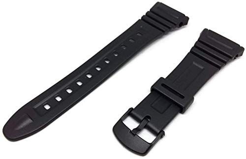 Casio 10076822-Correa para reloj, resina, color negro