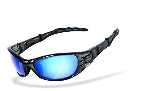 HSE® SportEyes®   Sportbrille, Fahrradbrille, Radbrille, Outdoorbrille, Bikerbrille   beschlagfrei   windabweisend   UV400 Schutzfilter, HLT® Sicherheitsglas nach DIN EN 166   Sportbrille für Damen und Herren   Brillenmodell: STREET KING 2