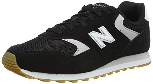 New Balance 393, Zapatillas Hombre, Negro, 42.5 EU