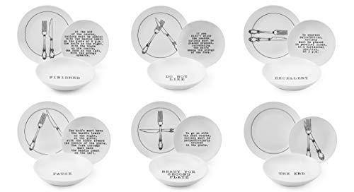 Excelsa Galateo - Vajilla de 18 piezas, porcelana