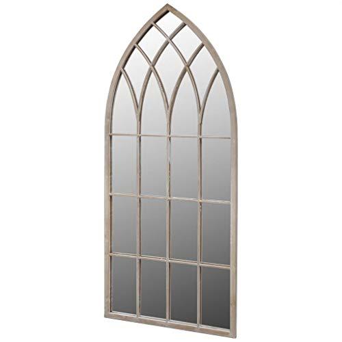 vidaXL Rustikaler Gartenspiegel Bogen Spiegel 50×115 cm für Indoor und Outdoor