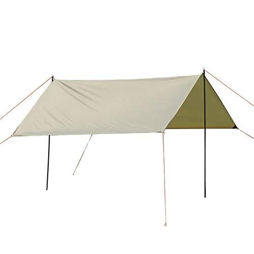 HO-TBO Tarp Shelter, 9.8x9.8 Voeten Waterdichte Tarp Shelter Hangmat Regenvlieg Tent Zonnescherm Met Stakes Palen Touwen Overlevingsuitrusting Kit Voor Camping Backpacking Eenvoudig te installeren