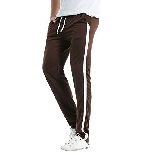 FIRMON-Jeans Herren 50er Jahre Hose Casual Slim Sport Lange Hose Outdoor Streifen Hose Baggy Hose Jogging Trainingsanzug Gr. 31-35, Kaffeehose für Herren