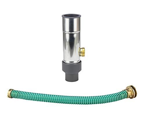 Regenwassersammler für Fallrohre Kunststoff 50 mm, Wassersammler Zink DN 50 mit kompletten Anschlußset