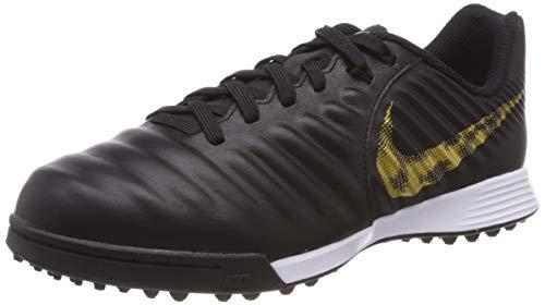 Nike Unisex-Kinder Kids Jr. Legendx 7 Academy (tf) Fußballschuhe, Schwarz (Black/MTLC Vivid Gold 077), 29.5 EU