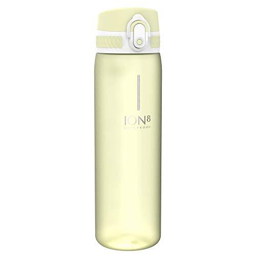 Ion8 Auslaufsichere Schlanke Trinkflasche, BPA-frei, 600ml, Zitrone