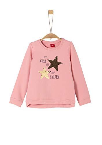 s.Oliver Mädchen 58.911.41.2257 Sweatshirt, Rosa (Rose 4273), 116 (Herstellergröße:116/122/REG)