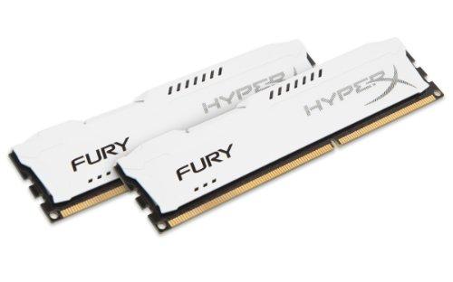 HyperX HX313C9FWK2/8 Fury Weiß Arbeitsspeicher, DDR3, 8GB (Kit 2x4GB )1333MHz CL9 DIMM