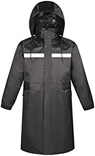BGROESTWB Snow Rainwear Men's Long style Heavy weight Waterproof Raincoat for Outside Multifunction Outdoor Cycling (Size ...