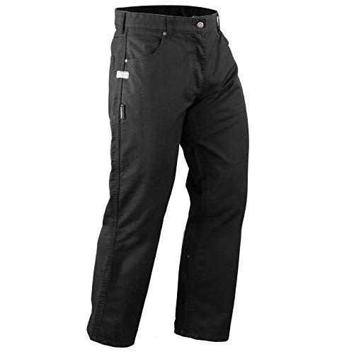 A-pro - Pantalones de Tela para Moto, Impermeables, Protectores de Kevlar, homologados CE, Color Negro 38